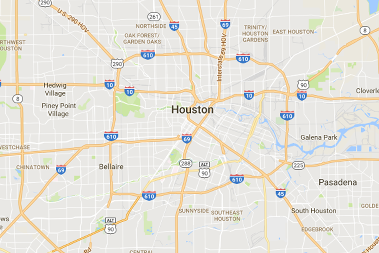 map of Houston area